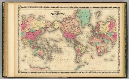 Map Of The World on Mercator's Projection.