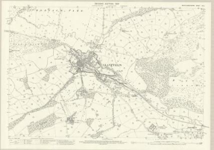 Montgomeryshire IX.12 (includes: Llanfyllin) - 25 Inch Map