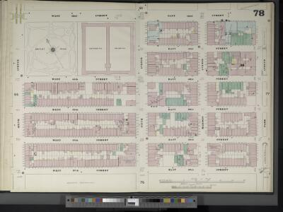 Manhattan, V. 4, Double Page Plate No. 78  [Map bounded by W. 42nd St., E. 42nd St., Park Ave., E. 37th St., W. 37th St., 6th Ave.]