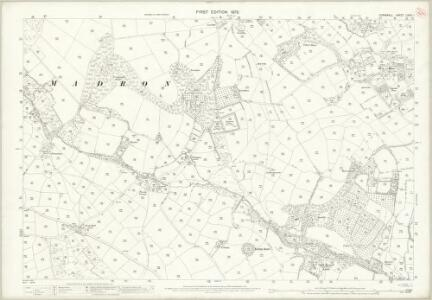 Cornwall LXXIV.1 (includes: Madron; Penzance) - 25 Inch Map