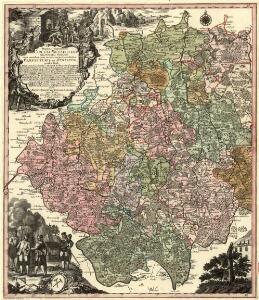 Mappa Geographica Circuli Metalliferi Electoratus Saxoniae cum omnibus, quae in eo comprehenduntur Praefecturis et Dynastiis