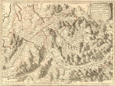 Partie Meridionale des Estats de Savoye : ou sont le Duché de Savoye, les Comtés de Tarentaise, et Morienne et Partie du Bugey &c.