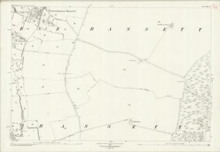 Wiltshire XXII.14 (includes: Berwick Bassett; Winterbourne Bassett) - 25 Inch Map