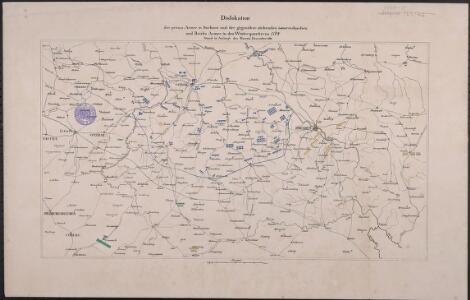 Dislokation der preuss. Armee in Sachsen und der gegenüber stehenden österreichischen und Reichs Armee in den Winterquartieren 1760/1