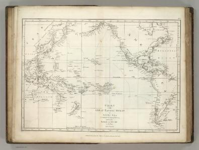 Chart of the Great Pacific Ocean.