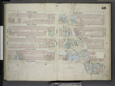[Plate 48: Map bounded by West 22nd Street, East 22nd Street, Fourth Avenue, Union Place, East 17th Street, Broadway, East 18th        Street, West 18th Street, Sixth Avenue; Including West 21st Street, East 21st    Street, West 20th Street, East 20th
