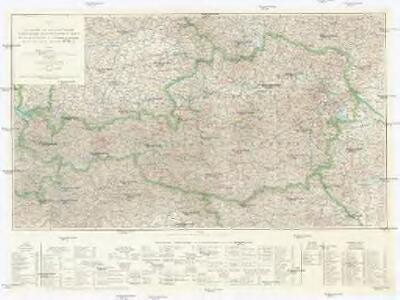 Karte der Mineralquellen und Kurorte von Österreich