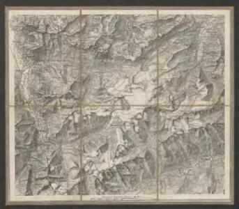 Excursions-Karte des Schweizer Alpen-Club für den Sommer 1863