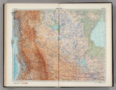 191-192.  Canada, West.  The World Atlas.