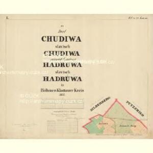 Chudiwa - c2670-1-001 - Kaiserpflichtexemplar der Landkarten des stabilen Katasters