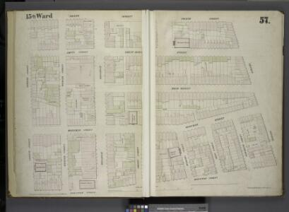 [Plate 57: Map bounded by East 4th Street, Bowery, Houston Street, Green Street.]