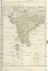 CHARTE von OST-INDIEN diesseits des Ganges oder HINDOSTAN und DEKAN