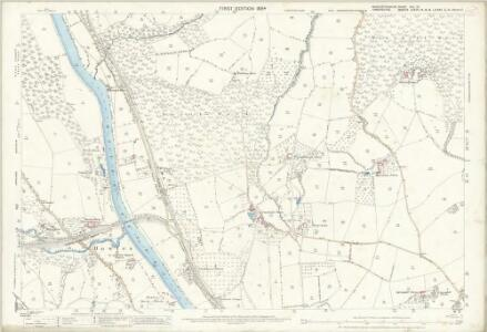 Worcestershire VIII.13 (includes: Bewdley; Kidderminster Foreign; Upper Arley; Wribbenhall) - 25 Inch Map