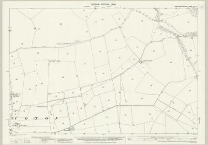 Northamptonshire XXII.15 (includes: Claycoton; Elkington; Stanford) - 25 Inch Map