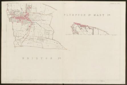 Devon CXXIV.7 (inset CXXIV.2 & CXXIV.3) (includes: Brixton; Plympton St Maurice; Plymstock; Sparkwell) - 25 Inch Map