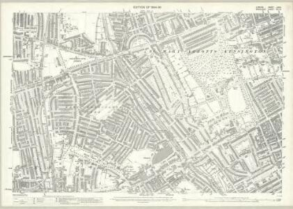 London (Edition of 1894-96) LXXIII (includes: Fulham; Hammersmith; Kensington) - 25 Inch Map