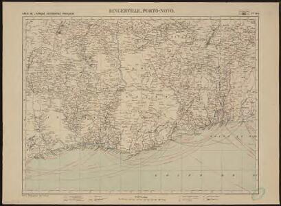 Carte de l'Afrique occidentale française. Bingerville, Porto-Novo