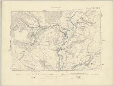 Montgomeryshire XIX.NW - OS Six-Inch Map