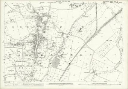 Hertfordshire XXXVII.5 (includes: Hoddesdon; Roydon; Stanstead Abbots) - 25 Inch Map
