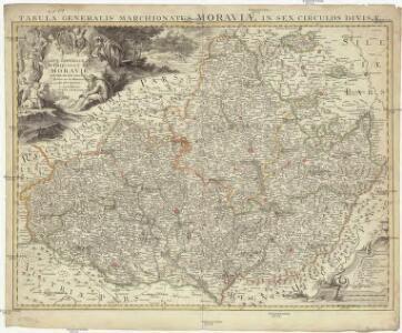 Carte générale du marquisat de Moravie divisée en six cercles dressée sur les memoires les plus nouveaux