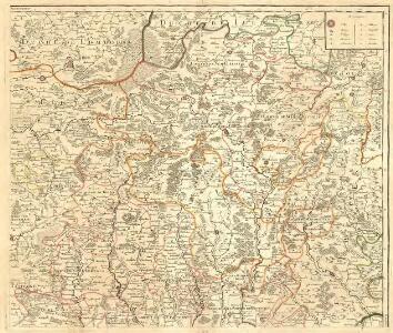 Le Duché de Luxembourg divisé en Quartier Walon, et Allemand