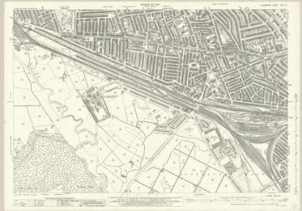 Glamorgan XLIII.14 (includes: Cardiff; Lecwith) - 25 Inch Map
