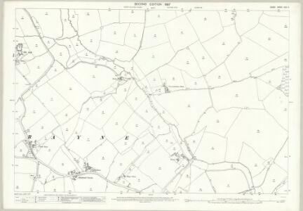 Essex (1st Ed/Rev 1862-96) XXV.9 (includes: Panfield; Rayne) - 25 Inch Map