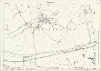 Oxfordshire XL.4 (includes: Great Milton; Tiddington with Albury; Waterperry; Waterstock) - 25 Inch Map