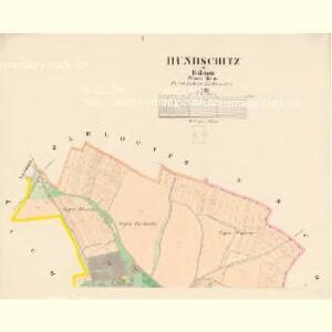 Hundschitz - c2422-1-001 - Kaiserpflichtexemplar der Landkarten des stabilen Katasters