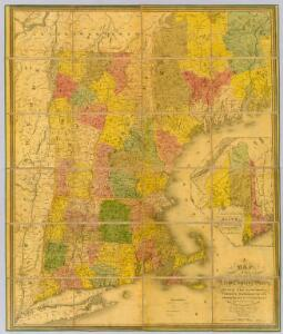 A Map of the New England States.