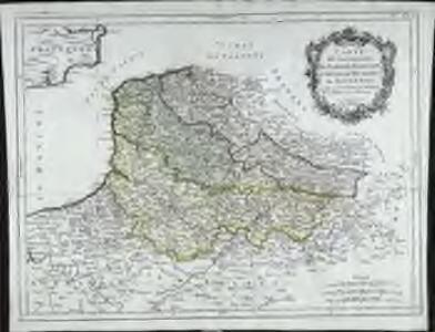 Carte des gouvernements de Flandre françoise, d'Artois, de Picardie et du Boulenois