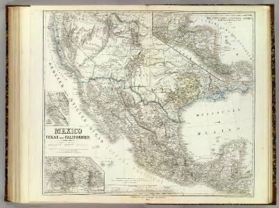 Mexico, Texas, Californien, C. America.