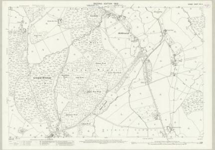 Dorset XXII.6 (includes: Buckland Newton; Glanvilles Wootton; Hermitage; Minterne Magna) - 25 Inch Map