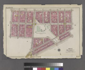 Plate 12: Bounded by Hester Street, Orchard Street, Division Street, Pike Street, East Broadway, Chatham Square, Bowery Street, Bayard Street and Mulberry Street.