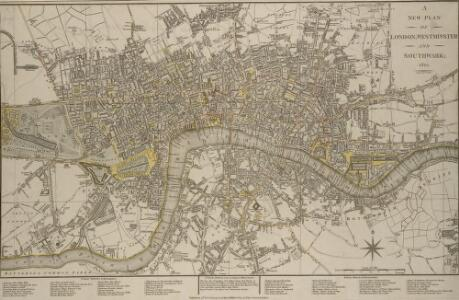 A NEW PLAN OF LONDON, WESTMINSTER AND SOUTHWARK 185