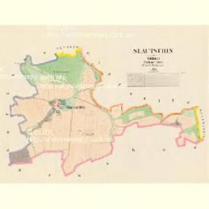 Slautschin - c7045-1-001 - Kaiserpflichtexemplar der Landkarten des stabilen Katasters