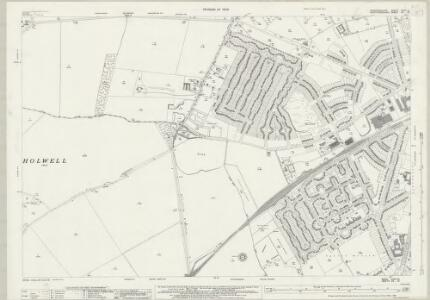 Bedfordshire XXVII.10 (includes: Arlesey; Hitchin Urban; Holwell; Letchworth; Stotfold) - 25 Inch Map