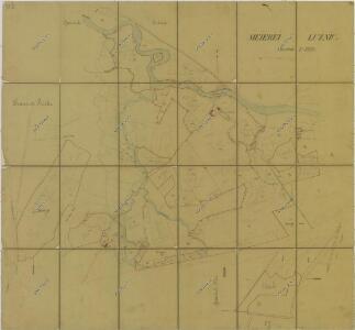 Mapa pozemků dvora Lužnice 1