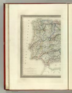 Carte de la Peninsule Hispanique.