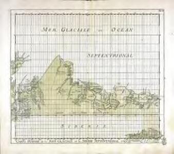 Carte marine de la mer glaciale, et la Siberie septentrional