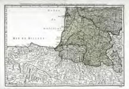 Cinquieme feuille contenant la Guienne, le Bearn, la Basse Navarre, le comté de Foix, et une partie du Languedoc