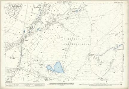 Durham XVI.8 (includes: Edmondbyers; Hunstanworth) - 25 Inch Map