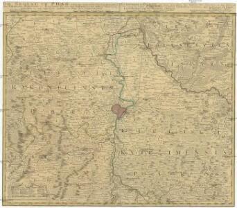Die Gegend um Prag, nebst den angränzenden Landschaften des Rakonizer, Boleslawer u. Kaurzimer Cr