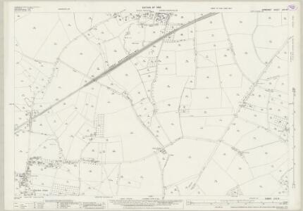 Somerset LXIV.13 (includes: Babcary; Charlton Mackrell; Keinton Mandeville; Kingweston; Lydford) - 25 Inch Map