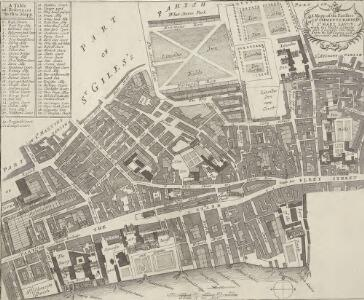 A Mapp of the Parishes of {ST.CLEMENTS DANES, ST. MARY SAVOY; with the Rolls Liberty and Lincolns Inn. taken From the last Survey with Corrections and Additions 50