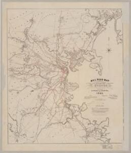 Rail road map : showing the street rail road routes in and leading ...