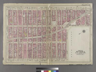 [Plate 23: Bounded by Ninth Avenue, Columbus Avenue, W. 64th Street, Central Park West, Columbus Circle, Central Park South, Sixth Avenue, and W. 47th Street.]