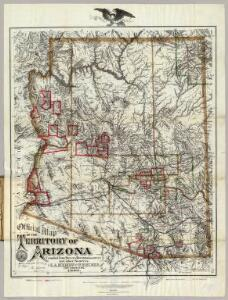 Official Map Of The Territory Of Arizona.