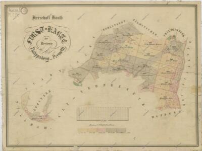 Porostní mapa revírů Filipova Hora a Spálenec