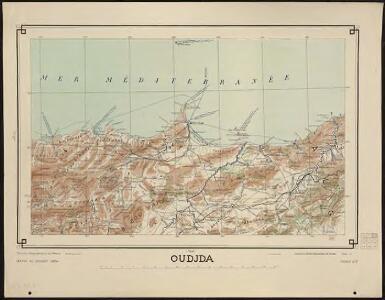 Carte générale du Maroc à l'échelle de 1 : 500 000 e. Oudjda